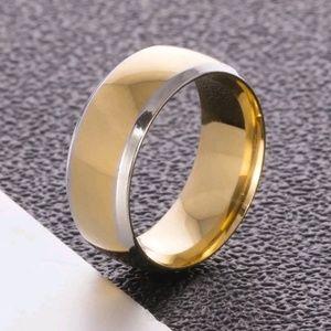 Gold and silver Stainless Steel Wedding Band